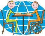 Інклюзивне навчання. Доступ до якісної освіти дітям з особливими потребами. кременець, круглий стіл, особливими освітніми потребами, супровід, інклюзивне навчання, cartoon, abstract, smile, drawing, child art, illustration, clipart, vector graphics. A drawing of a cartoon character