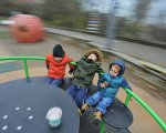 Діти з інвалідністю тепер мають ігрові зони в Києві. київ, волонтер, ігрова зона, інвалідність, інклюзивний, playground, toddler, person, clothing, baby, boy, human face, footwear