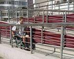 В Днепре думали, как сделать здания доступнее. днепр, доступность, застройщик, инвалидность, совещание, person, man. A group of people standing next to a fence