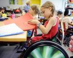 До 1 червня в області створять 20 інклюзивно-ресурсних центрів. кіровоградщина, ігровий майданчик, інвалідність, інклюзивно-ресурсний центр, інклюзія, person, indoor, child, clothing, young, toddler. A small child sitting on a table