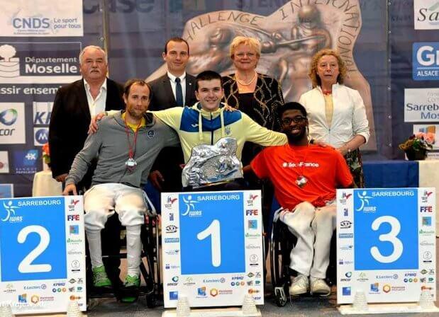 Андрій Демчук виборов дві високі нагороди у відкритому чемпіонаті Франції з фехтування на візках. андрій демчук, змагання, паралимпиец, фехтування, чемпіонат