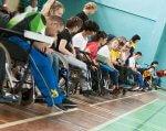 Наші спортсмени на шляху до Паралімпіади-2020 (ВІДЕО). одеса, боча, команда, спортсмен, чемпіонат, person, clothing, wheelchair, boy, sport, footwear. A group of people in a room