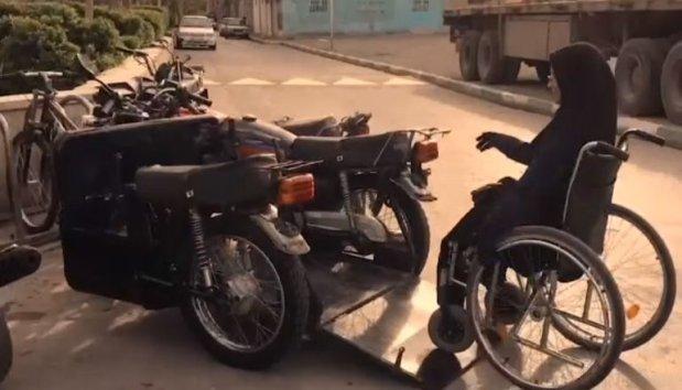 Представлен первый в мире мотоцикл для инвалидов. захара седихи, иран, инвалидная коляска, инвалидность, мотоцикл