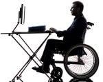 На шляху до рівних можливостей для працевлаштування: від санкцій до заохочень. норматив, працевлаштування, роботодавець, робоче місце, інвалідність, wheel, transport, land vehicle, tire, wheelchair, vehicle, bicycle wheel, person, bicycle. A man sitting on a bicycle