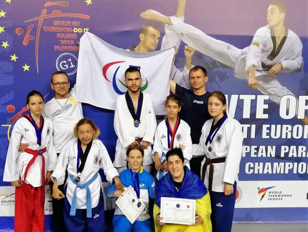 З відритого чемпіонату Європи українські паратхеквондисти повернулись з двома кубками та 7 медалями. команда, паралимпиец, спортсмен, тхеквондо, чемпіонат