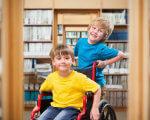 Як у Львові й області впроваджують інклюзивну освіту. львів, дослідження, інвалідність, інклюзивна освіта, інклюзія, toddler, person, baby, boy, young, child, playground, clothing, human face, library. A young boy riding a bicycle