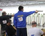 Українські пара-стрілки стали першими на міжнародному турнірі в США. сша, команда, пара-стрілки, спортсмен, турнір, person, clothing, man, indoor, human face, sport, group. A group of people standing in a room