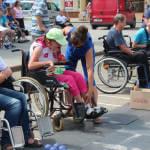 Світлина. У Володимирі-Волинському вперше провели змагання із гри «Бочча» для людей з обмеженими можливостями. Спорт, інвалід, змагання, Володимир-Волинський, бочча, гра