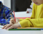 МОН затвердило освітню програму для учнів 1 класів з інтелектуальними порушеннями. мон, наказ, освітня програма, учень, інтелектуальні порушення, person, indoor, laptop, toddler, baby, computer. A young boy sitting at a table using a laptop