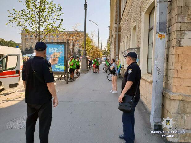 У Харкові стартував велопробіг. харків, велопробіг, незрячий, спортсмен, учасник