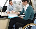 Лише у І півріччі 2018 року служба зайнятості працевлаштувала майже 400 інвалідів. дніпропетровська область, безробітний, працевлаштування, служба зайнятості, інвалідність, person, woman, clothing, indoor, computer. A woman sitting at a table
