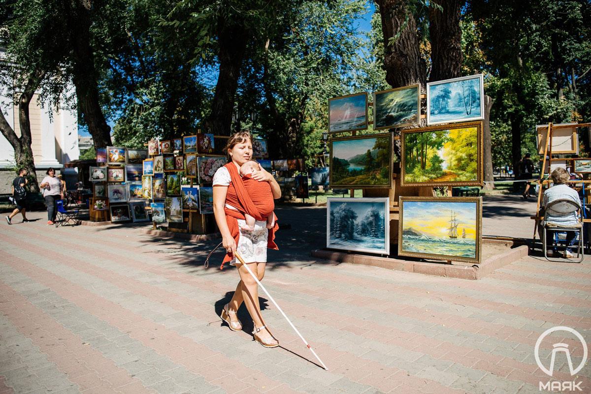 «Я могу все сделать сама», — вдохновляющая история незрячей девушки из Одессы