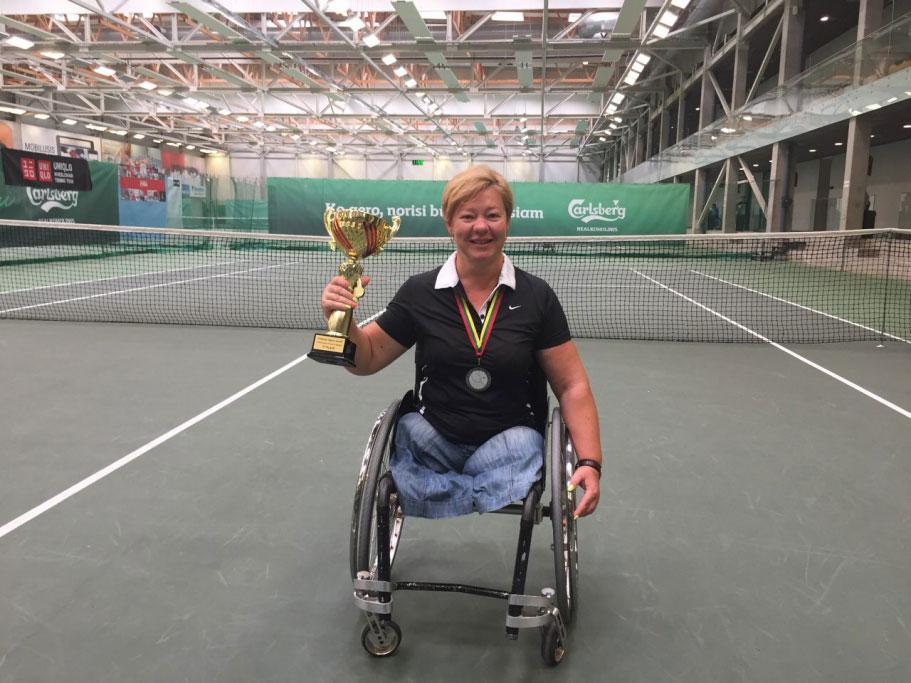 Українка Олена Шингарьова посіла друге місце на тенісному турнірі серії «Фьючєрс» серед спортсменів-візочників «Vilnius Open 2018»