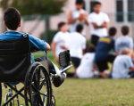 Як усі (ВІДЕО). як усі, спецпроект, суспільство, сюжет, інклюзивна освіта, grass, person, outdoor, wheelchair. A person that is standing in the grass