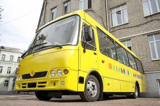Житомирщина вперше закупила спеціалізований шкільний автобус для дітей з особливими потребами. житомирщина, пандус, школяр, шкільний автобус, інвалідний візок