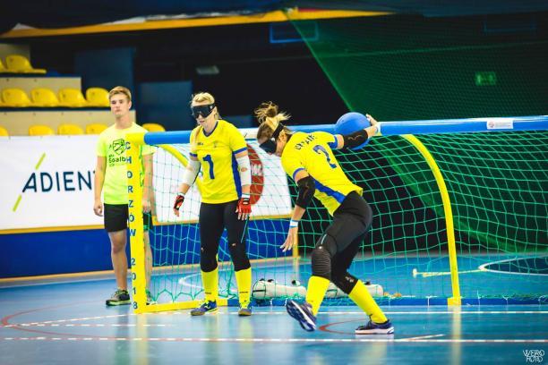 Національні паралімпійські збірні команди з голболу (чоловіки та жінки) стали чемпіонами Європи. виступ, голбол, команда, нагорода, чемпіонат європи