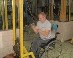 Чоловік з Бердичівщини, незважаючи на інвалідний візок, виборює нагороди на чемпіонатах. олександр гусар, армреслінг, травма, чемпіонат світу, інвалідний візок, person, outdoor, man, clothing, wheel, wheelchair. A person sitting on a bicycle