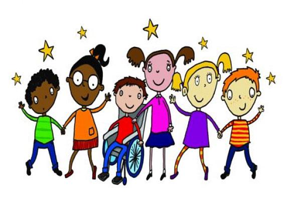 Міжнародний досвід – на користь особливим діткам. чернівці, круглий стіл, суспільство, інвалідність, інтеграція, cartoon, smile, clothing. A drawing of a cartoon character