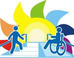 Днепрян приглашают принять участие во Всеукраинском конкурсе безбарьерного пространства. доступно.ua, безбарьерность, доступность, инвалидность, универсальный дизайн, cartoon, design, graphic, illustration, vector, poster, typography, vector graphics. A close up of a logo