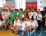 У Смілі відбулися баскетбольні змагання Спеціальної Олімпіади України. сміла, спеціальна олімпіада україни, баскетбол, змагання, інвалідність, person, clothing, group, sports uniform, people, posing, boy, smile, line. A group of people posing for a picture