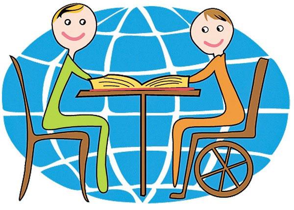 Як діти з інвалідністю навчатимуться у звичайних школах?. особливими освітніми потребами, суспільство, школа, інвалідність, інклюзивна освіта, cartoon, smile, illustration, drawing, child art, abstract, vector graphics. A drawing of a cartoon character
