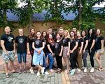 Третій етап проекту «Доступність у туристичній сфері». миколаїв, доступність, проект, туризм, інвалідність, person, tree, posing, smile, clothing, ground, group, outdoor, standing, footwear. A group of people posing for a photo