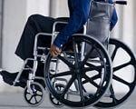 Чи підуть Медична та Пенсійна реформи в Україні на користь інвалідів?. моз, мсек, реформа, інвалідизація, інвалідність, wheel, wheelchair, bicycle wheel, bicycle, tire, bike, weapon, gun. A person sitting on a bicycle