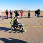 Світлина. Сумчанин встановив рекорд, подолавши десятикілометрову дистанцію на інвалідному візку. Життя і особистості, інвалідний візок, спортсмен, рекорд, напівмарафон Sumy aіrport run, Ігор Лугина