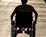 На Чернігівщині 78 інвалідів на 1000 населення, в Україні – 62. чернігівщина, пенсія, соціальний захист, суспільство, інвалідність, ground, outdoor, person, beach, clothing, chair, wheelchair, man, seat, dirt. A man riding a bike down a dirt road