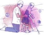 ДЦП: обзор методик реабилитации. дцп, адаптація, методика, пациент, терапія, drawing, sketch, child art, cartoon, illustration, linedrawing. A drawing of a person