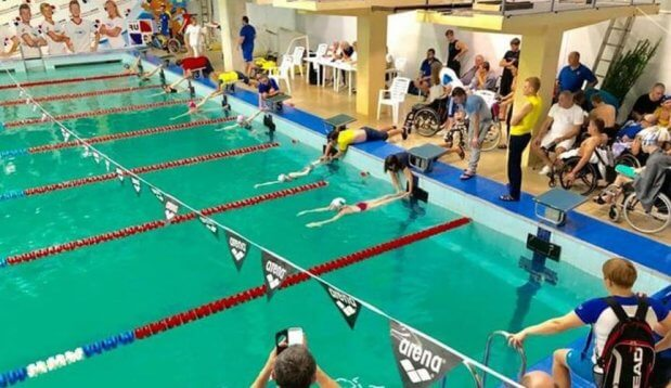Чемпионат Украины по плаванию прошел в каменском «МиКомпе». каменское, инвалидность, параспортсмен, плавание, чемпионат украины