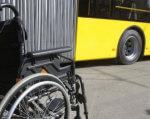 Кожна третя маршрутка в Калуші буде пристосована для людей із інвалідністю. калуш, автобус, доступність, засідання, інвалідність, bicycle, wheel, outdoor, land vehicle, tire, bus, vehicle, road, yellow, bicycle wheel. A bicycle parked in front of a bus