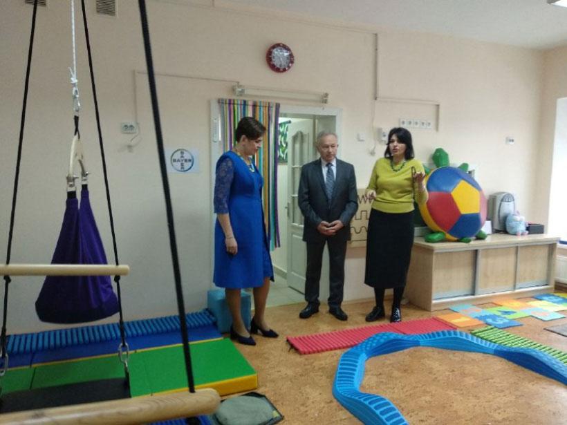 Чернігів: Тетяна Слюз відвідала обласний центр комплексної реабілітації дітей з інвалідністю «Відродження» (ФОТО)