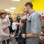 Марина Порошенко зустрілася з вчителями та вихованцями інклюзивно-ресурсного центру в Магдалинівській опорній школі на Дніпропетровщині