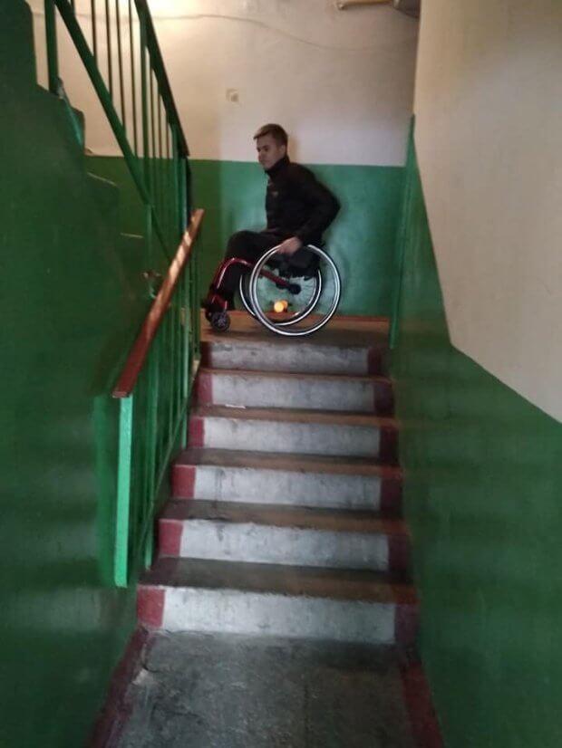 Отримала цінний мотиваційний урок від хлопця, що на інвалідному візку стрибає по сходах. саша ващук, візочник, доступність, інвалідний візок, інвалідність