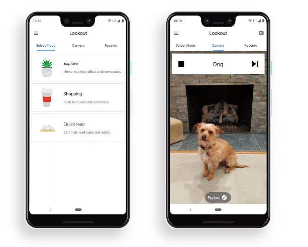 Google зробив додаток для людей з вадами зору. Він розпізнає об'єкти навколо та називає їх. google, вади зору, додаток lookout, об'єкт, смартфон, dog, carnivore, animal, different, screenshot. A screen shot of a social media post