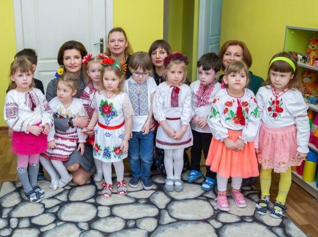 Марина Порошенко ознайомилася з результатами впровадження інклюзивної освіти в столиці України. київ, марина порошенко, дитячий садок, особливими освітніми потребами, інклюзивна освіта