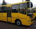 Чернігівський автозавод випускає шкільний автобус для дітей з інвалідністю. чаз, автобус, підйомник, інвалідний візок, інвалідність, bus, yellow, road, sky, outdoor, transport, land vehicle, vehicle, wheel, tour. A yellow school bus parked in a parking lot
