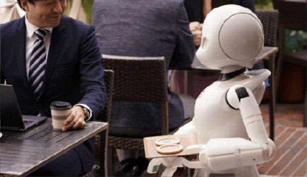 Кафе в Японії бере на роботу лежачих інвалідів: вони керують роботами-офіціантами. orihime-d, японія, кафе, офіціант, робот