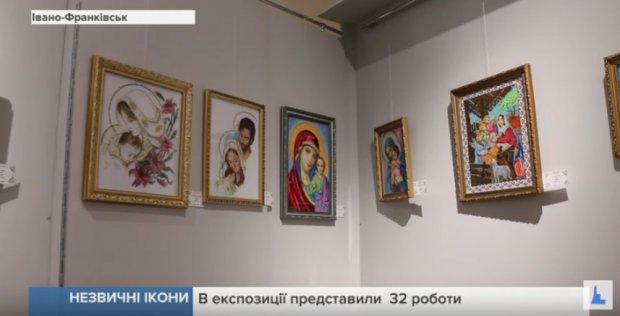 У Франківську презентували виставку ікон мисткині з обмеженими можливостями. івано-франківськ, тамара стефінин, виставка, ікона, інвалідний візок