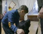 Каністерапія. Вірний друг (ФОТО, ВІДЕО). го струни серця, кременчук, канистерапия, суспільство, інвалідність, person, dog, indoor, carnivore, animal, mammal. A group of people looking at each other