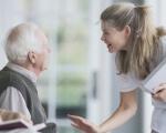 Харків'яни з інвалідністю та старше 80 років зможуть отримувати адмінпослуги вдома. харків, адміністративна послуга, засідання, зручність, інвалідність, person, human face, woman, clothing. A woman looking at each other