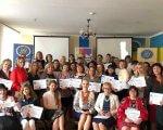 Студенти вінницького ВУЗу показали інклюзію зблизька. вінниця, університет «україна», конференція, інвалідність, інклюзивна освіта, person, ceiling, wall, indoor, posing, clothing, smile, woman, group, human face. A group of people posing for a photo