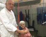 У рівненському центрі «Крок» з'явилась диво-кабінка. рівне, захворювання, кінезотерапія, центр крок, інвалідність, person, indoor, human face, clothing, standing, smile, baby. A man and a woman standing in a room
