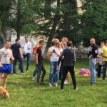 Світлина. Собака як лікар: львівські чотирилапі допомагають у реабілітації людей. Реабілітація, канистерапия, будинок-інтернат, собака, Розділ, клуб Dog-Friend
