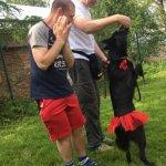 Світлина. Собака як лікар: львівські чотирилапі допомагають у реабілітації людей. Реабілітація, канистерапия, будинок-інтернат, собака, клуб Dog-Friend, Розділ