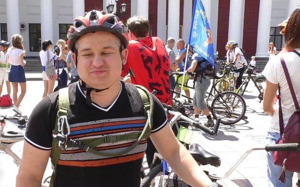 Як відбувається велопробіг для людей з вадами зору. одеса, вади зору, велопробіг, тандем, учасник