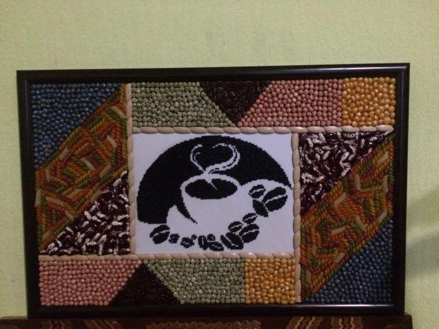 Диво-картини із круп, бобів, кави, бісеру створює умілець з Тернопільщини (ФОТО). роман шиманський, картина, натхнення, творчість, інвалідність