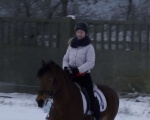 Документальний телепроект «Особливі діти. Право на повноцінне життя». Фільм 3. дцп, аутизм, виховання, доступність, телепроект, snow, outdoor, horse, animal, sled. A person riding a horse in the snow