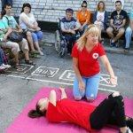 Світлина. Нікопольський район: людей з інвалідністю навчали діям у екстрених випадках. Новини, інвалідність, навчання, екскурсія, Никополь, ДСНС